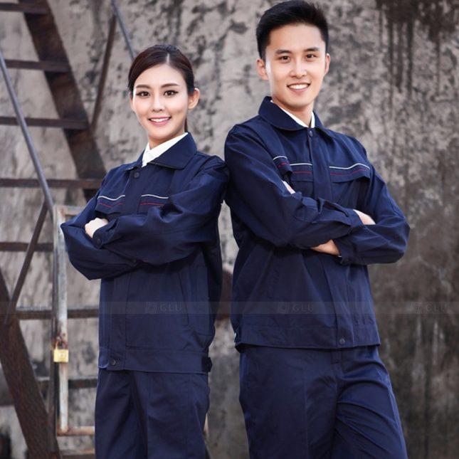 Quan ao dong phuc bao ho GLU X1083 đồng phục công nhân cơ khí