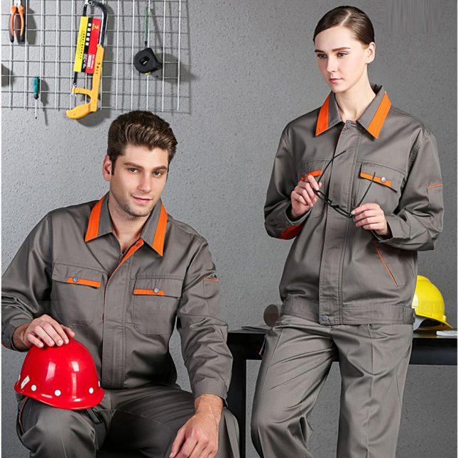 Quan ao dong phuc bao ho GLU X1093 đồng phục công nhân cơ khí