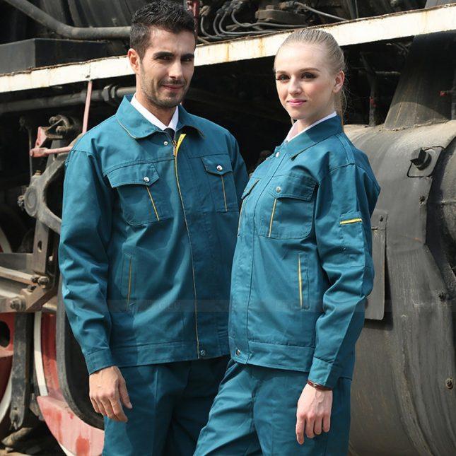 Quan ao dong phuc bao ho GLU X1097 đồng phục công nhân cơ khí