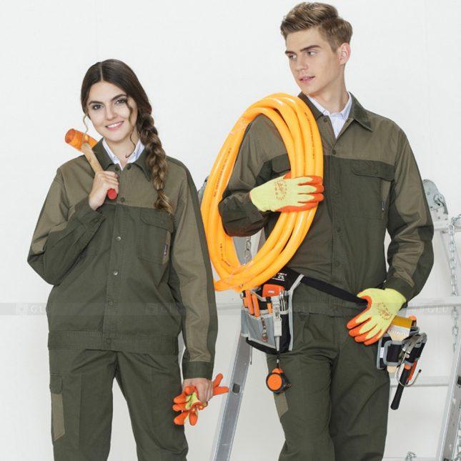 Quan ao dong phuc bao ho GLU X1100 đồng phục công nhân cơ khí