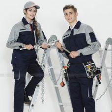 Quan ao dong phuc bao ho GLU X1101 quần áo bảo hộ lao động