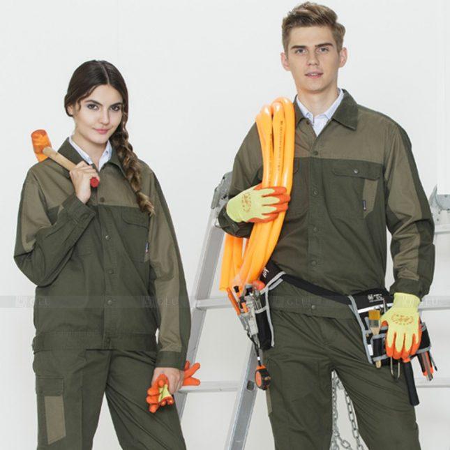 Quan ao dong phuc bao ho GLU X1104 đồng phục công nhân cơ khí
