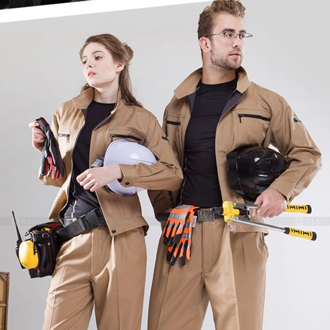 Quan ao dong phuc bao ho GLU X1105 đồng phục công nhân cơ khí