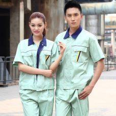 Quan ao dong phuc bao ho GLU X1109 quần áo bảo hộ lao động