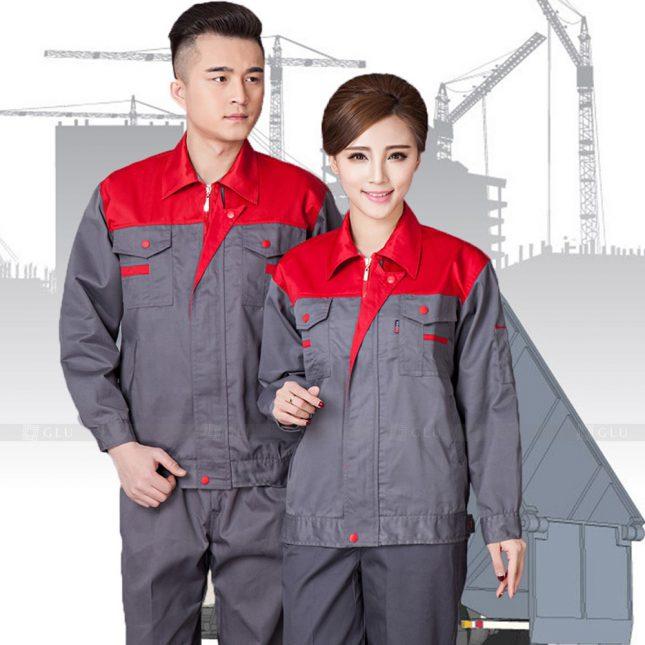 Quan ao dong phuc bao ho GLU X1113 đồng phục công nhân cơ khí