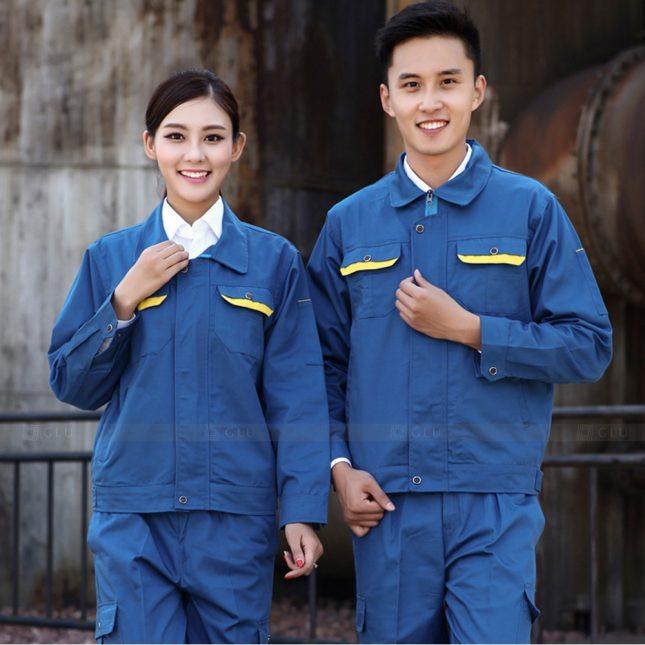 Quan ao dong phuc bao ho GLU X1117 đồng phục công nhân cơ khí