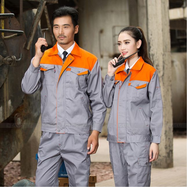 Quan ao dong phuc bao ho GLU X1119 đồng phục công nhân cơ khí