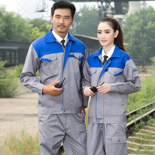 Quan ao dong phuc bao ho GLU X1122 đồng phục công nhân cơ khí