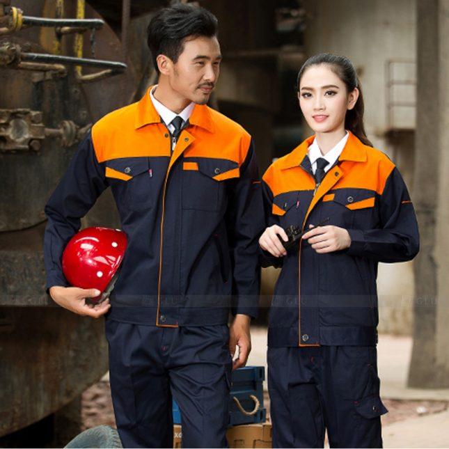 Quan ao dong phuc bao ho GLU X1123 đồng phục công nhân cơ khí