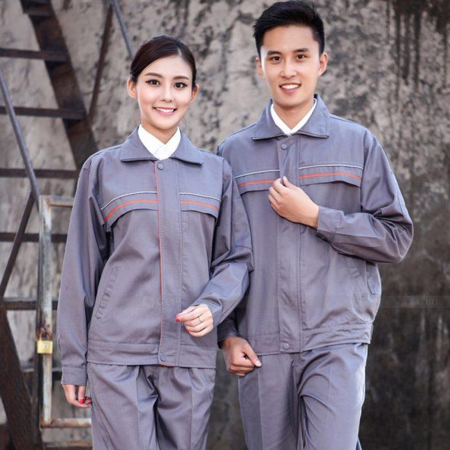 Quan ao dong phuc bao ho GLU X1125 đồng phục công nhân cơ khí