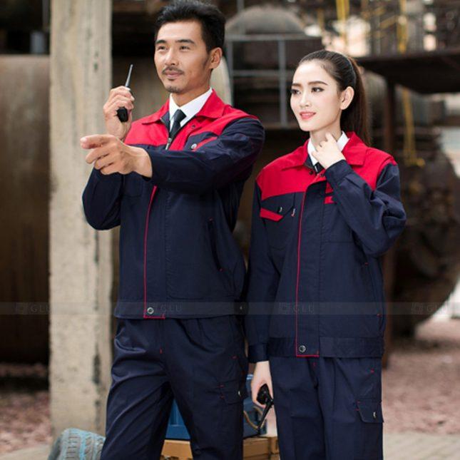 Quan ao dong phuc bao ho GLU X1131 đồng phục công nhân cơ khí