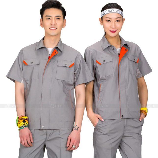 Quan ao dong phuc bao ho GLU X201 đồng phục công nhân xây dựng