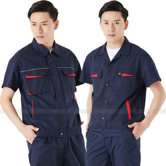 Quan ao dong phuc bao ho GLU X202 đồng phục công nhân xây dựng