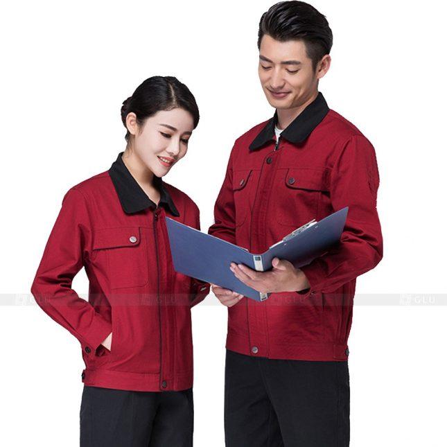 Quan ao dong phuc bao ho GLU X203 đồng phục công nhân xây dựng