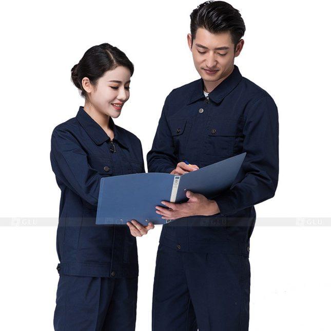 Quan ao dong phuc bao ho GLU X205 đồng phục công nhân xây dựng