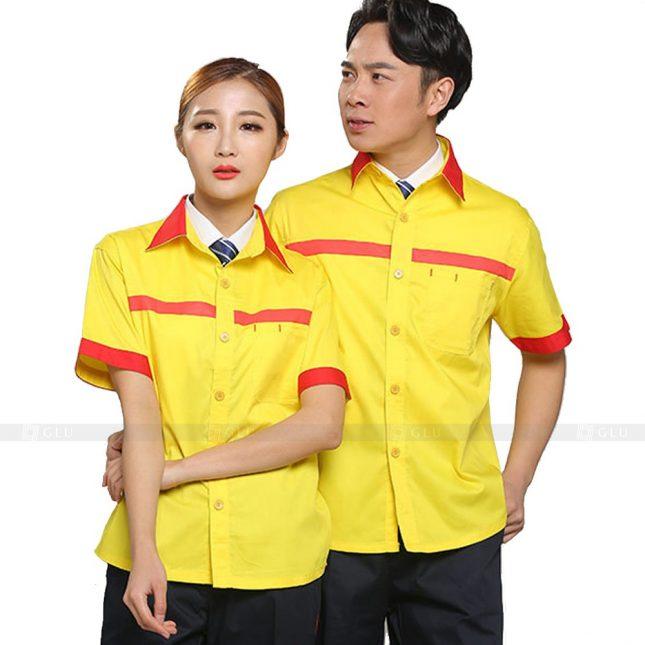 Quan ao dong phuc bao ho GLU X211 đồng phục công nhân xây dựng