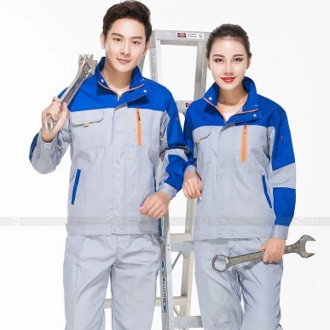 Quan ao dong phuc bao ho GLU X214 đồng phục công nhân xây dựng
