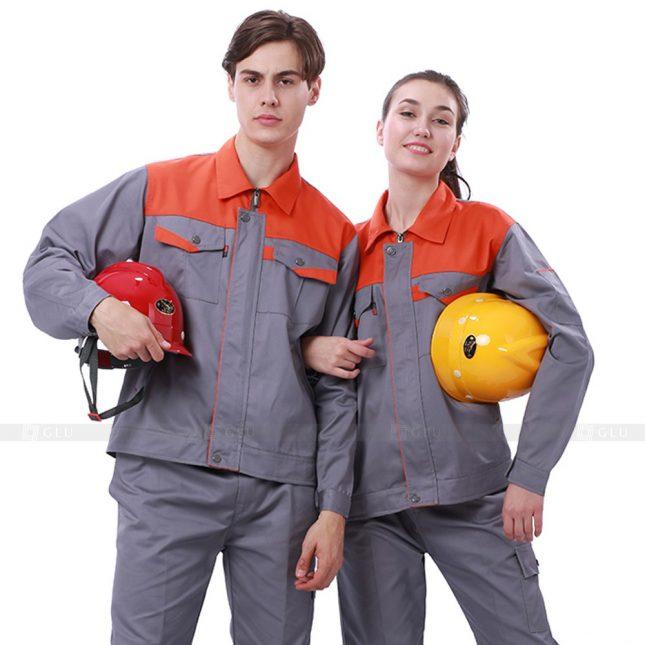 Quan ao dong phuc bao ho GLU X215 đồng phục công nhân xây dựng