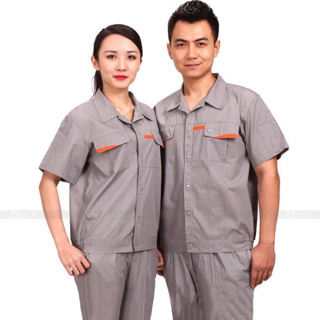 Quan ao dong phuc bao ho GLU X219 đồng phục công nhân xây dựng