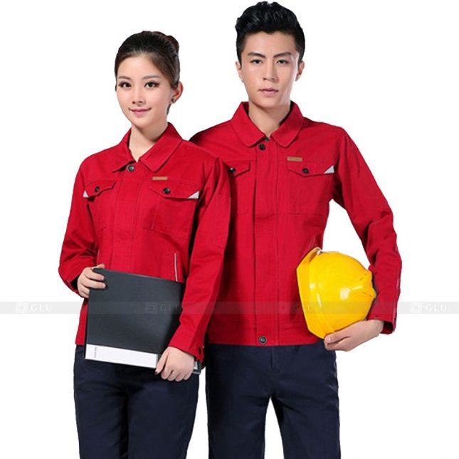 Quan ao dong phuc bao ho GLU X221 đồng phục công nhân xây dựng