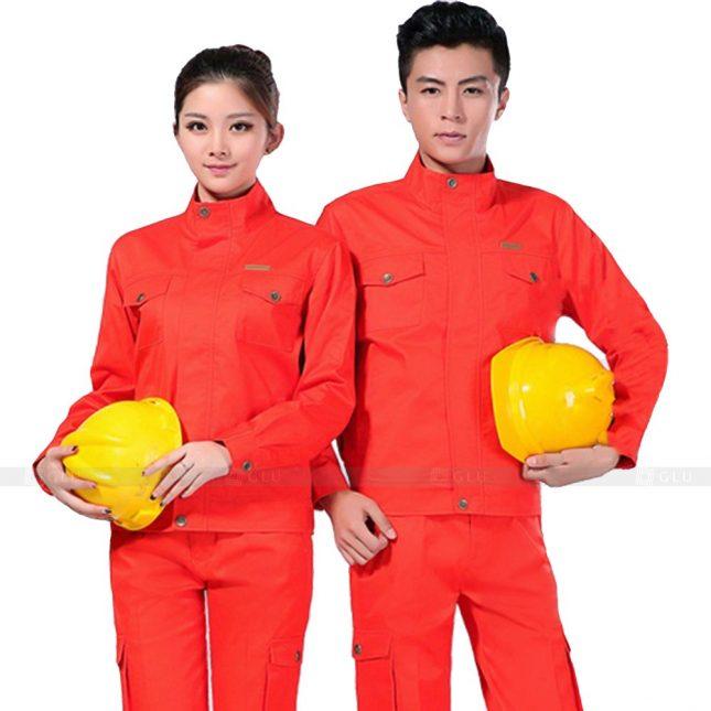 Quan ao dong phuc bao ho GLU X222 đồng phục công nhân xây dựng