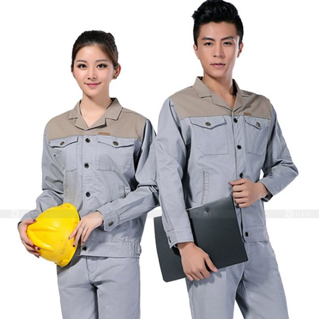 Quan ao dong phuc bao ho GLU X223 đồng phục công nhân xây dựng