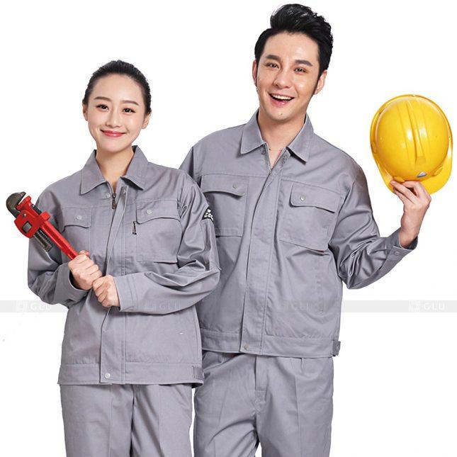 Quan ao dong phuc bao ho GLU X224 đồng phục công nhân xây dựng