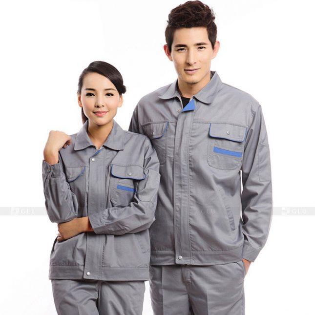 Quan ao dong phuc bao ho GLU X225 đồng phục công nhân xây dựng