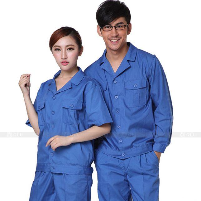 Quan ao dong phuc bao ho GLU X226 đồng phục công nhân xây dựng
