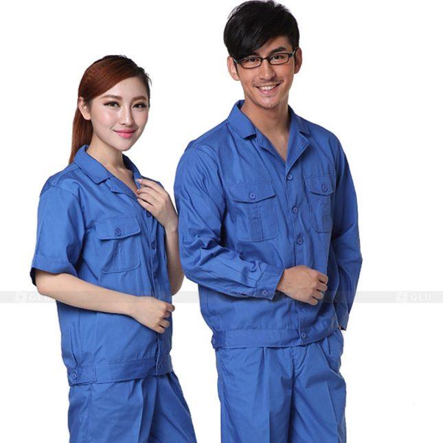 Quan ao dong phuc bao ho GLU X227 đồng phục công nhân xây dựng