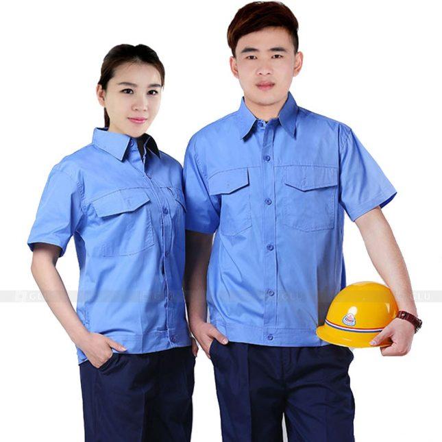 Quan ao dong phuc bao ho GLU X228 đồng phục công nhân xây dựng