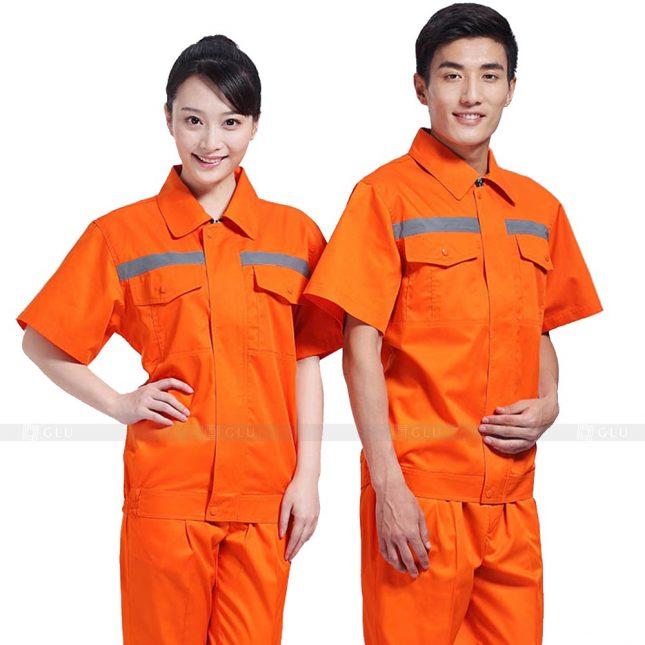 Quan ao dong phuc bao ho GLU X229 đồng phục công nhân xây dựng