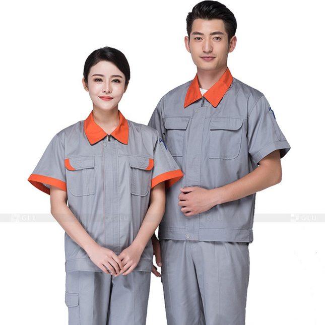 Quan ao dong phuc bao ho GLU X232 đồng phục công nhân xây dựng