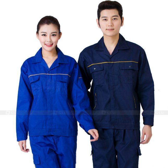 Quan ao dong phuc bao ho GLU X237 đồng phục công nhân xây dựng
