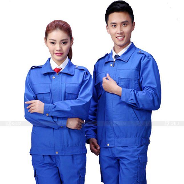 Quan ao dong phuc bao ho GLU X238 đồng phục công nhân xây dựng