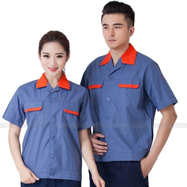 Quan ao dong phuc bao ho GLU X239 đồng phục công nhân xây dựng