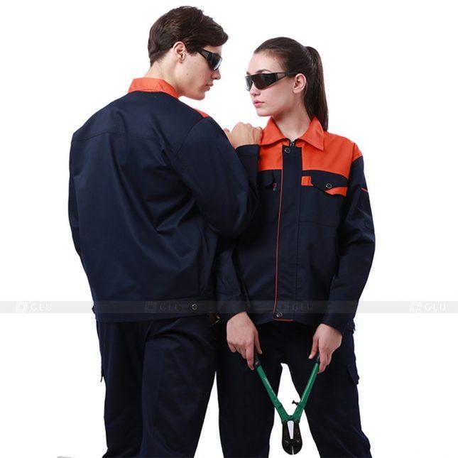 Quan ao dong phuc bao ho GLU X242 đồng phục công nhân xây dựng