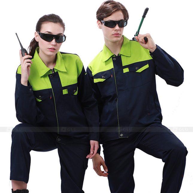 Quan ao dong phuc bao ho GLU X243 đồng phục công nhân xây dựng