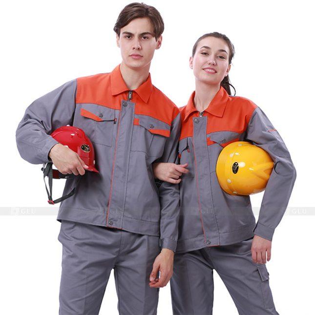 Quan ao dong phuc bao ho GLU X245 đồng phục công nhân xây dựng
