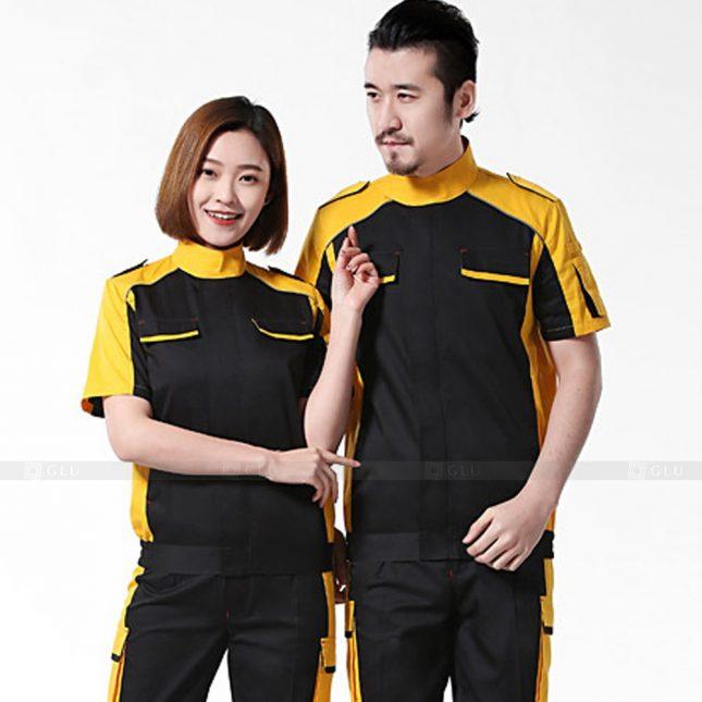 Quan ao dong phuc bao ho GLU X246 đồng phục công nhân xây dựng
