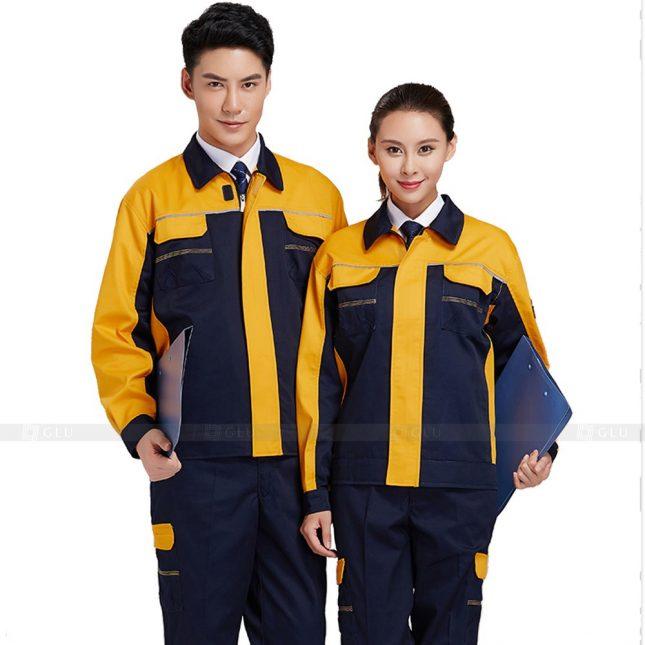 Quan ao dong phuc bao ho GLU X247 đồng phục công nhân xây dựng