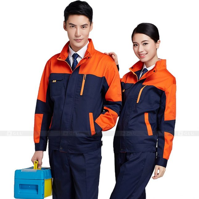 Quan ao dong phuc bao ho GLU X248 đồng phục công nhân xây dựng