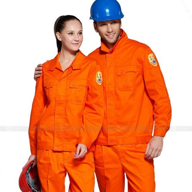Quan ao dong phuc bao ho GLU X253 đồng phục công nhân xây dựng