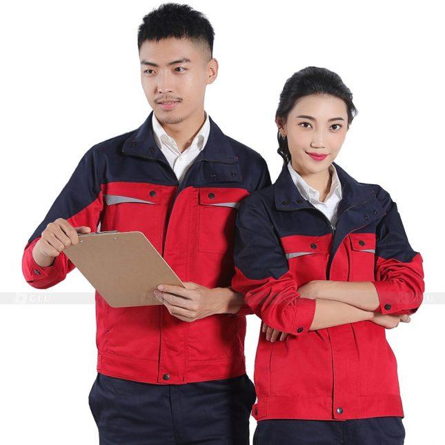 Quan ao dong phuc bao ho GLU X255 đồng phục công nhân xây dựng