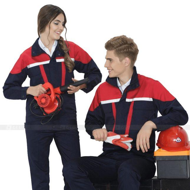 Quan ao dong phuc bao ho GLU X257 đồng phục công nhân xây dựng
