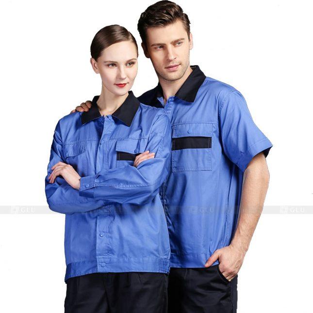 Quan ao dong phuc bao ho GLU X258 đồng phục công nhân xây dựng