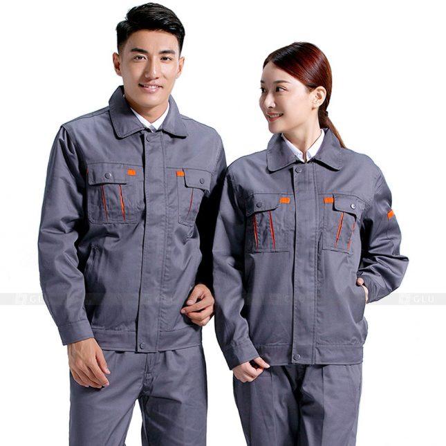 Quan ao dong phuc bao ho GLU X261 đồng phục công nhân xây dựng