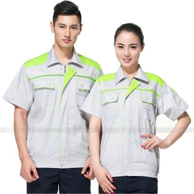 Quan ao dong phuc bao ho GLU X263 đồng phục công nhân xây dựng