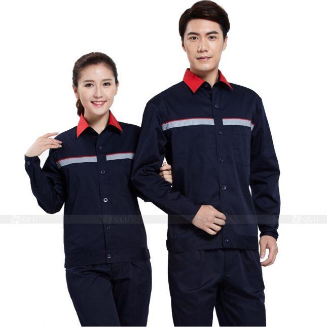 Quan ao dong phuc bao ho GLU X267 đồng phục công nhân xây dựng