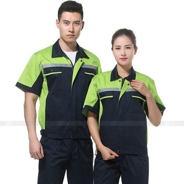 Quan ao dong phuc bao ho GLU X269 đồng phục công nhân xây dựng